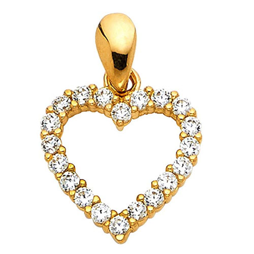 yellow gold with diamonds heart shaped necklaces gift for wifes and wedding anniversary