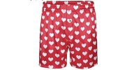Red heart boxers for men