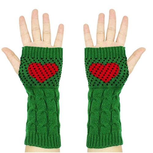 elf heart gloves christmas gift