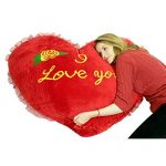 Giant Valentine's Red Heart Shaped pillow