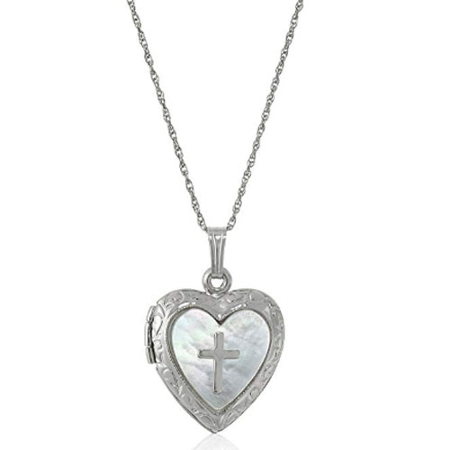 Heart shaped jesus lord christian locket
