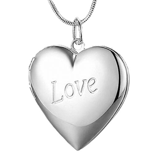 Love heart shaped locked pendant gift for girlfriend