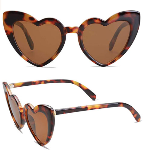 Brown Heart glasses