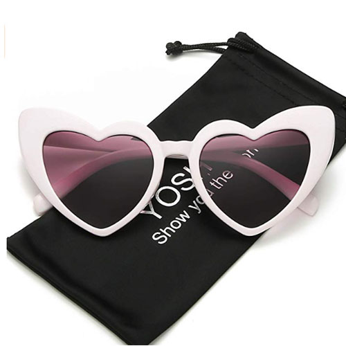 heart sunglasses with pink frame
