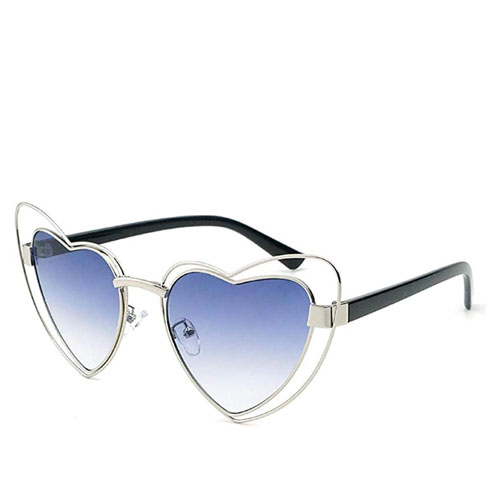 cat shape frame heart shaped sunglasses
