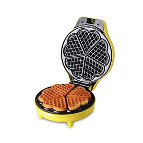 Family size heart-shaped waffle maker