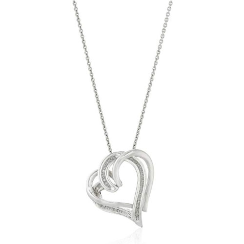 infinity heart shaped necklace sterling silver