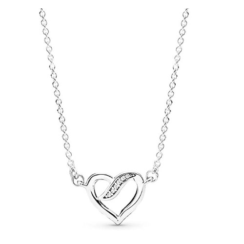 infinity love heart shaped necklace pendant to give away