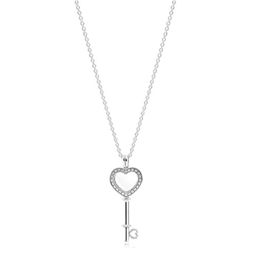 heart key love pendant pandota charm necklace