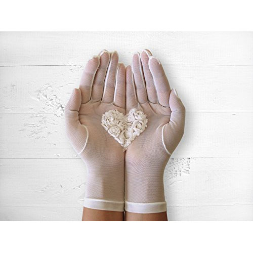 Bridal heart gloves high quality