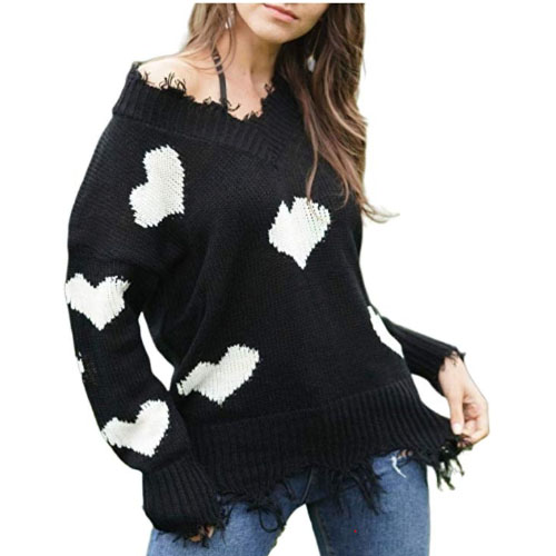 love symbol sweater