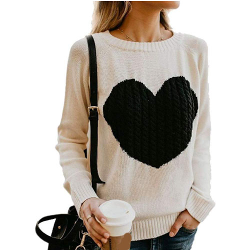 black knitted heart on a sweater