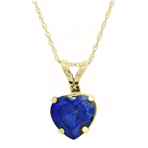 Heart sapphire pendant gift for girlfriend