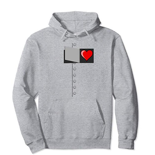 hoodie sweater with tini heart on it