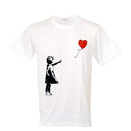 heart balloon banksy tshirt