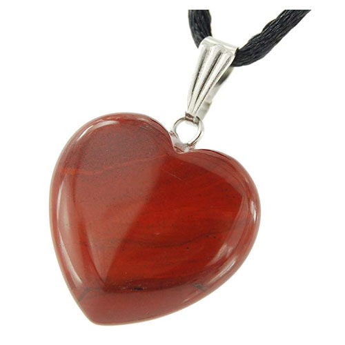big red heart stone pendant