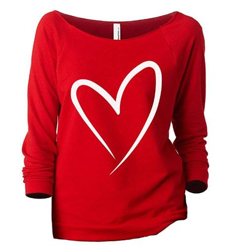 medium size heart sweatshirt