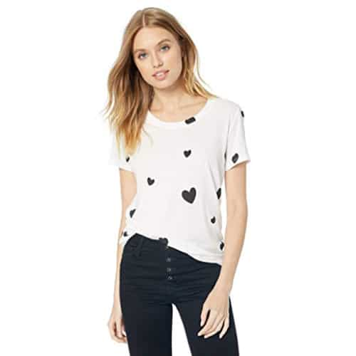 black printed hearts tshirt