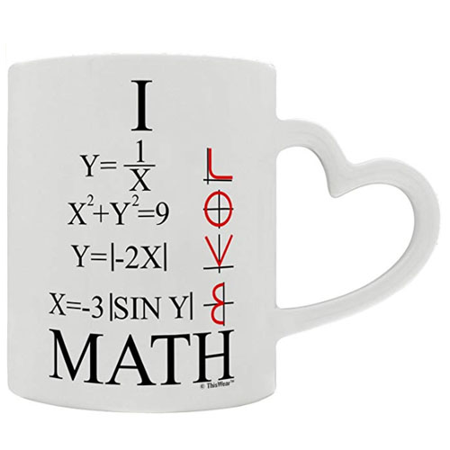 mug with handle heart shaped - gift for engineers