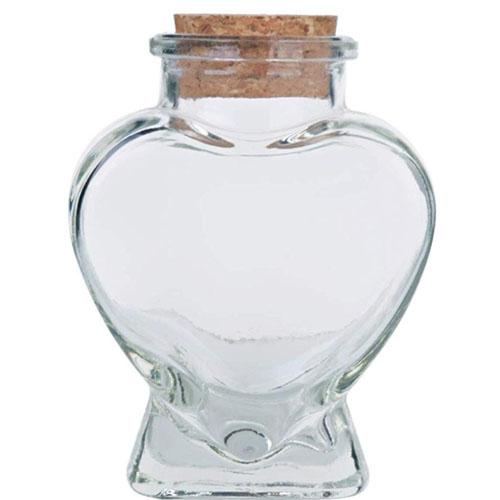 Glass mug with the shape of a heart