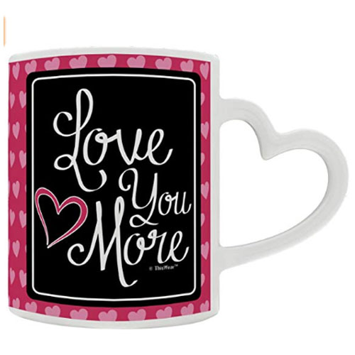 heart handle mug gift love