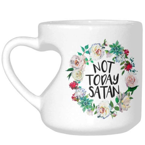 Christian message mug with heart handle