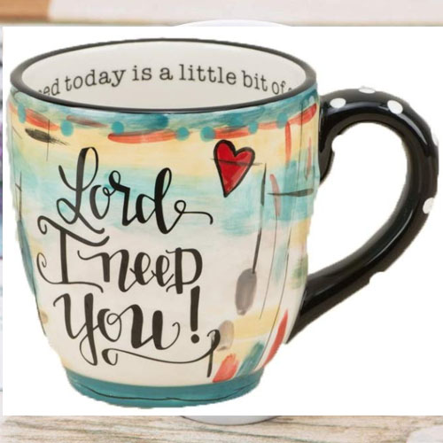 JEsus is lord heart mug gift for christians