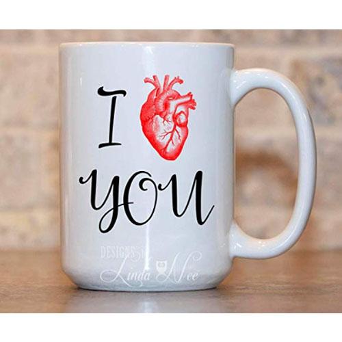 Nice heart mug for tea lovers