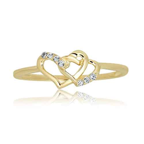 heart ring yellow gold 14k