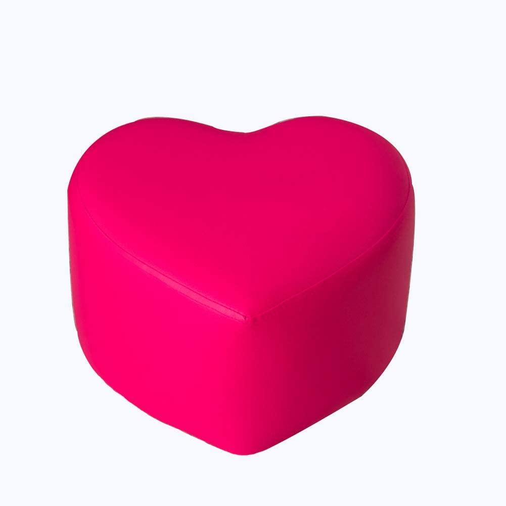 Pink heart shaped ottoman